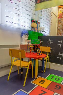 Children's play area at Eye World Optician