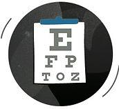 Optika Eye Examination Chart Icon