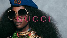 Women wearing Gucci glasses