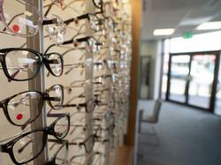 Makerfield Eye Centre Glasses Display