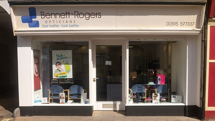 Outside Bennett & Rogers practice in Sidmouth