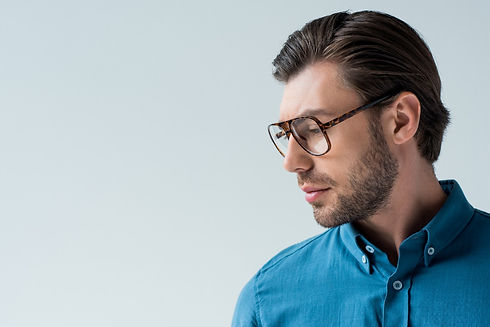 Young man with designer glasses