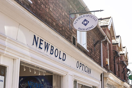 Newbold Optician sign outside practice