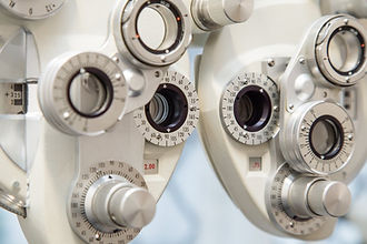 Eye examination equipment at Keith Murphy Opticians
