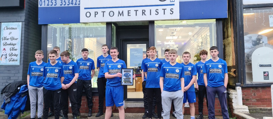 Bispham opticians lend their support to local boys football team