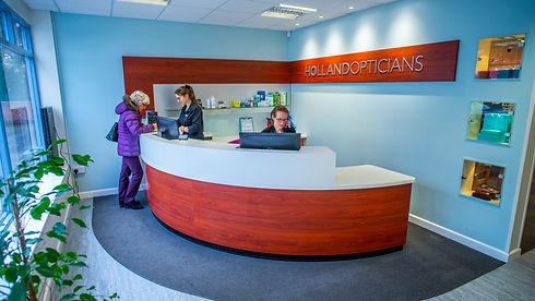 Holland Opticians Reception Area