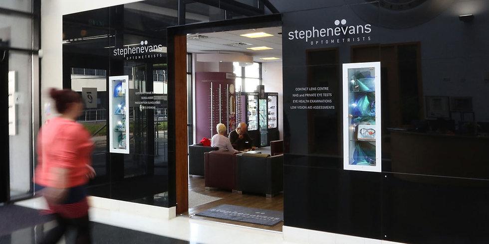 Inside Stephen Evans Opticians Practice