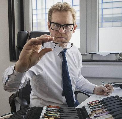 Man with Tom Davi frames