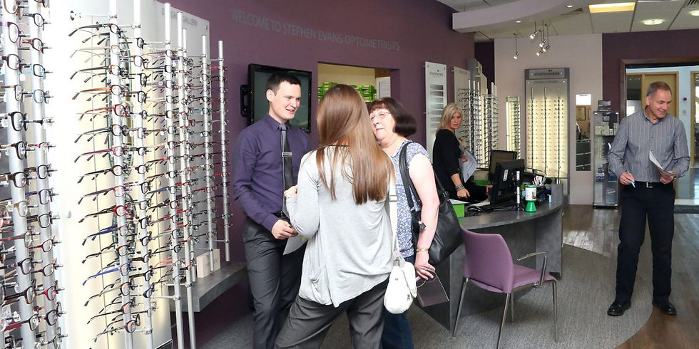 Inside Stephen Evans Opticians Swansea