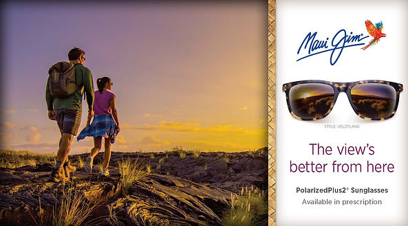 Couple out walking wearing Maui Jim Glasses