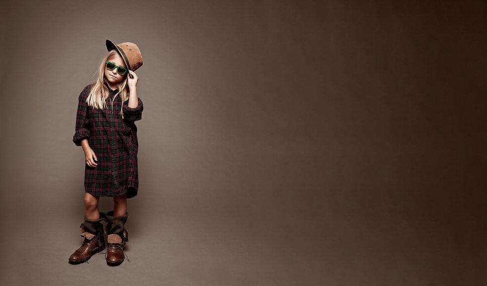 Girl wearing desiggner glasses