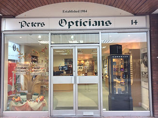Peters Opticians Exterior