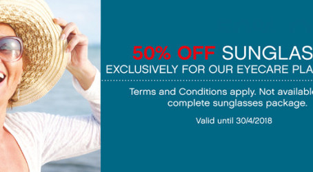 A great opportunity for our Eyecare+ members – 50% off Sunglasses