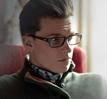 Man with barbour frames