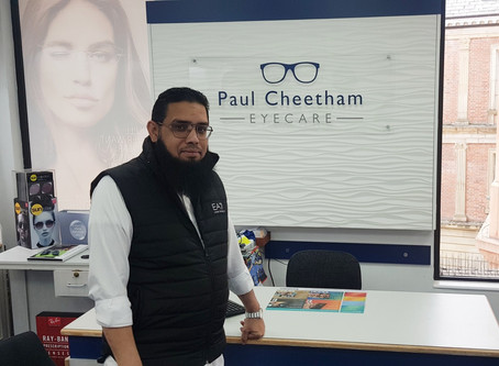 Paul Cheetham Eyecare help to save sight of patient after emergency appointment