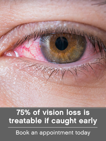 75% of vision loss is treatable if caught early
