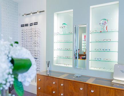 Interior of Eye world Opticians in Westport