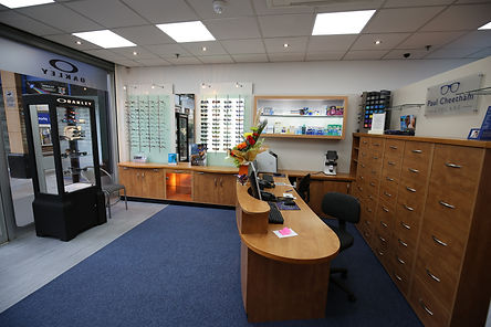 Paul Cheetham Eye Care practice interior