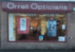 outside orrell opticians