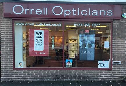 outside orrell opticians
