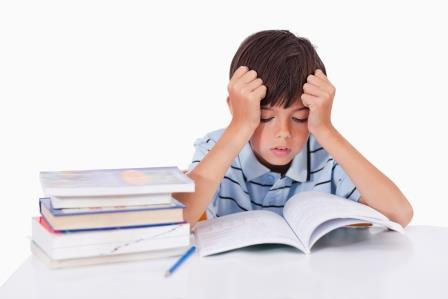 Child experiencing visual stress