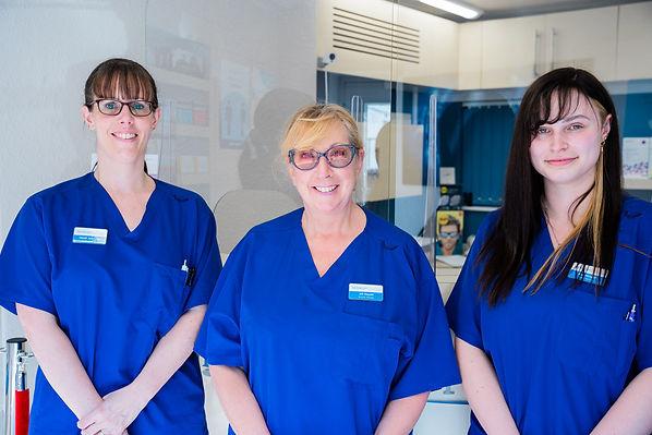 Newbold Opticians staff members