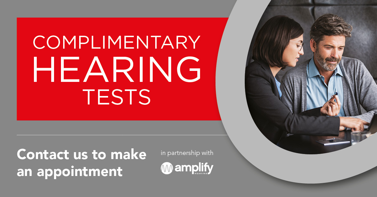 Complimentary Hearing Tests