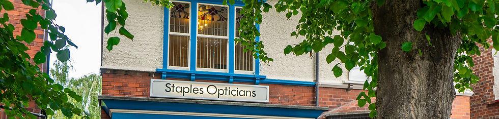 Outside Staples Opticians
