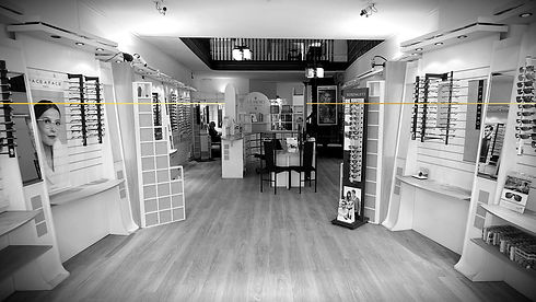 Interior of memory opticians in sailsbury