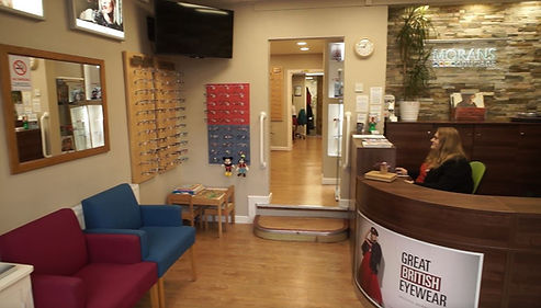 Reception at Morans Opticians