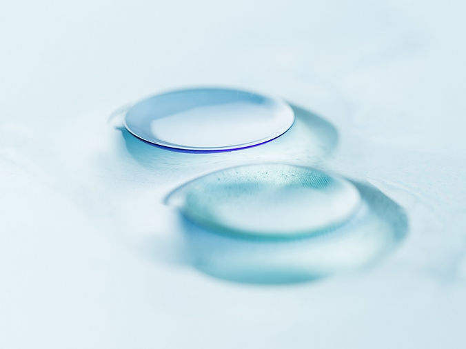 detail of hard contact lenses