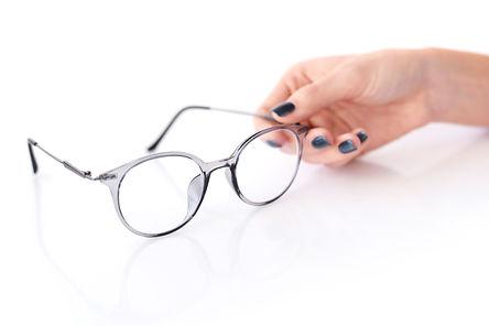 beautiful glasses white female hand
