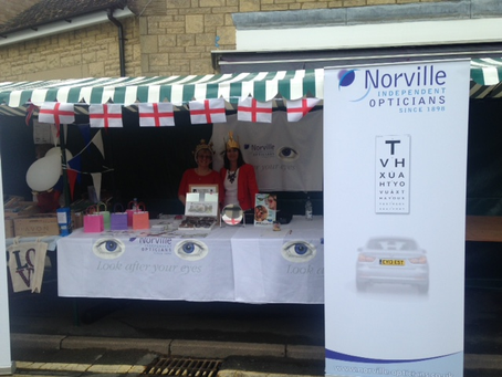 Flying the flag at Bishop's Cleeve Street Fair
