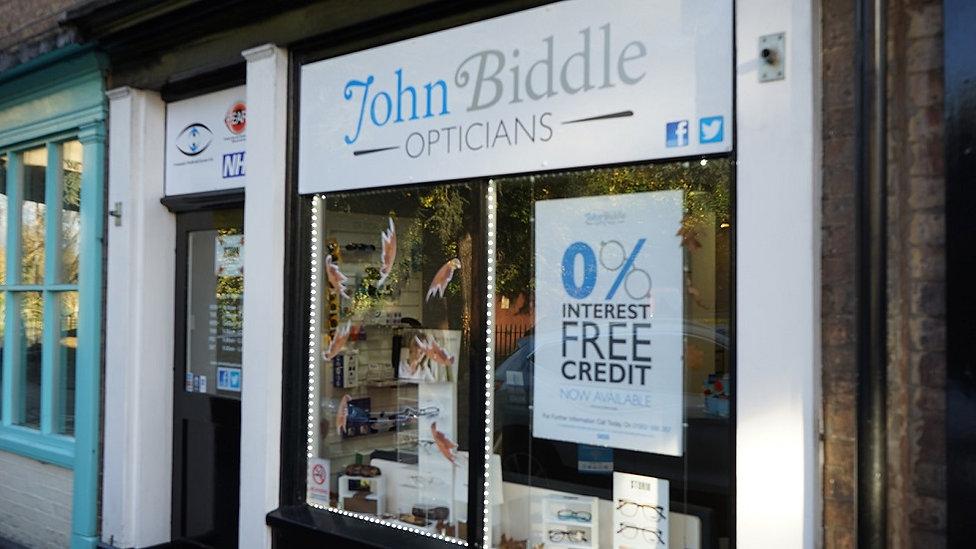 John Biddle Opticians Madeley