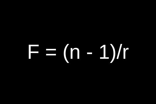 spectacle lens formula