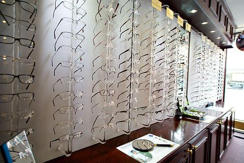 Tyrrells and Embery Optometry Glasses Display