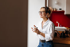 Woman with latest designer frames