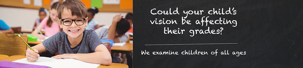 Cold your child's vision be affexting their grades - Web Banner