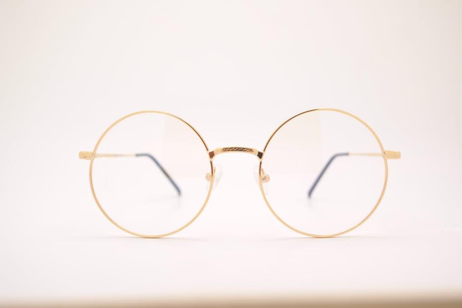 Glasses frame with lenses