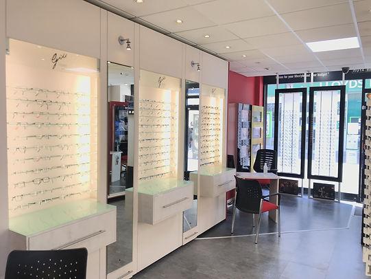 Interior of Gill Opticians