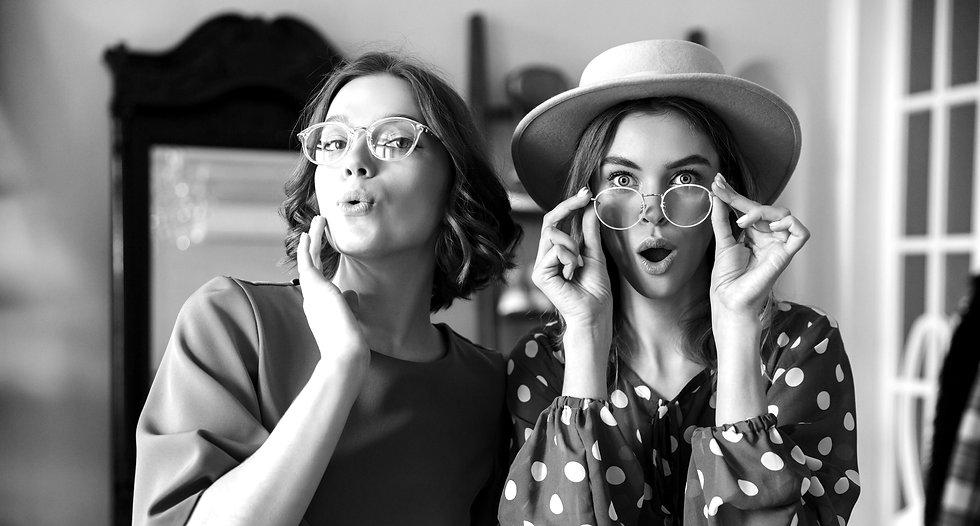 Women wearinng glasses