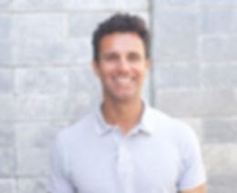 man wearing contact lenses