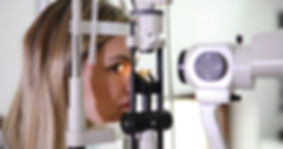 patient at slit lamp