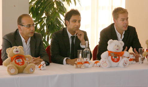 iTeddy launch with Theo Paphitis Imran Hakim and Peter Jones