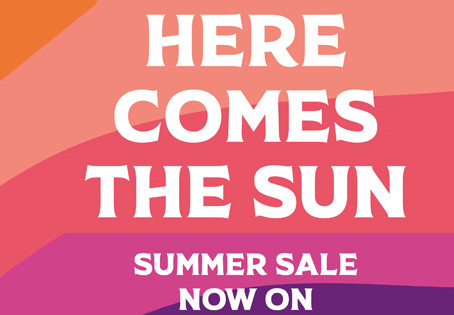Our summer sale starts on the 5th July 2021!