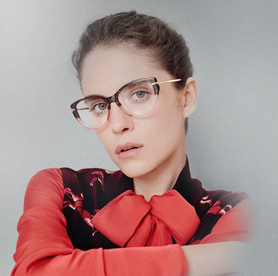 Woman with Long Champ glasses