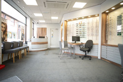 Makerfield Eye Centre Waiting Area & Glasses Display