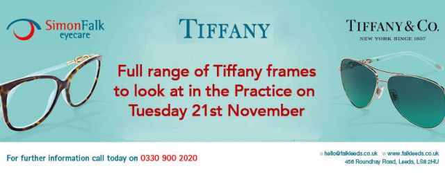1702d6ec8ef We are pleased to announce that we have the full range of Tiffany frames to  look at in the Practice this Tuesday (Tuesday