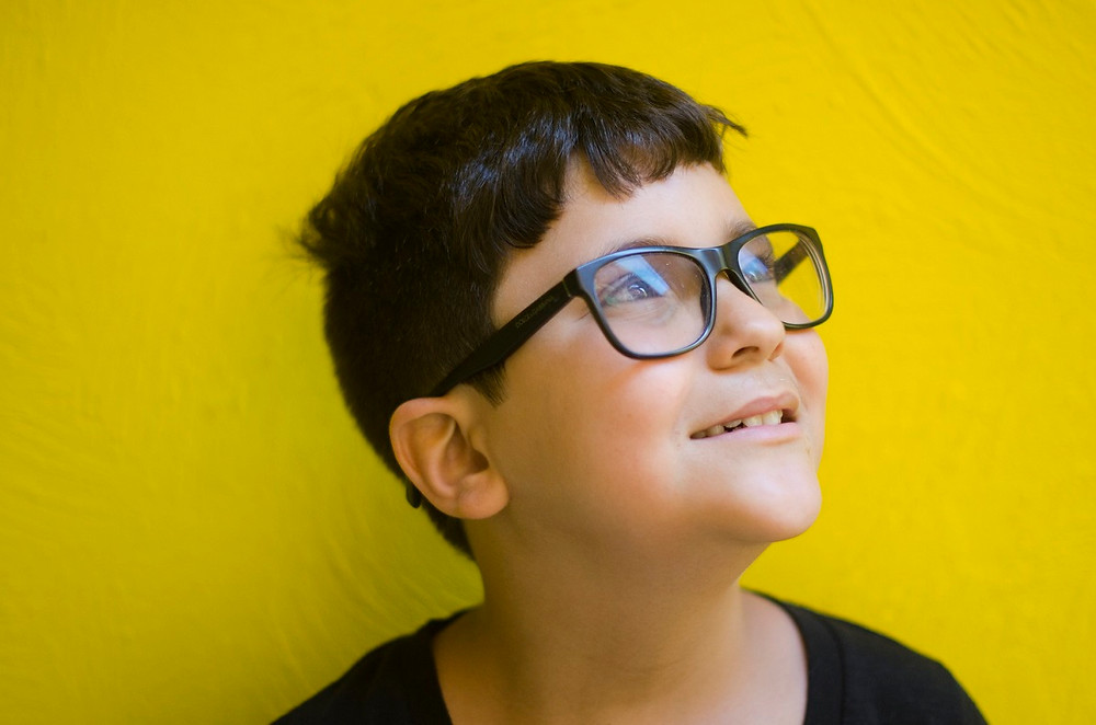 Child wearing their new glasses
