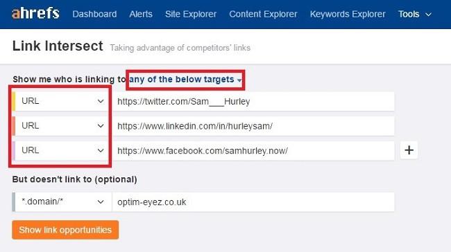 Add target URLs